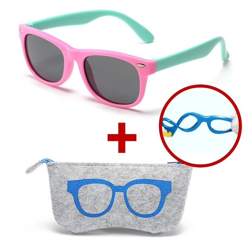 Children Kids Polarized Tr90 Silicone Sunglasses Boys Girls Unbreakable Sun Glasses For Child Baby Gafas Shades Oculos Infantil