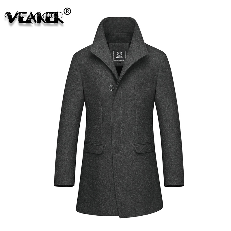 2018 Jaket Men Style Winter Men's Casual Coats Business Thicken Trench Coat Woolen Jackets,single Breasted Cardigan