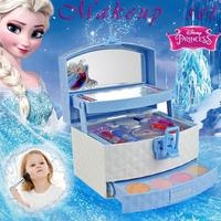 32Pcs Disney Snow Princess Dressing Case Toy Set Mini Portable Game House Makeup Set Toys For Children And Girls Gifts