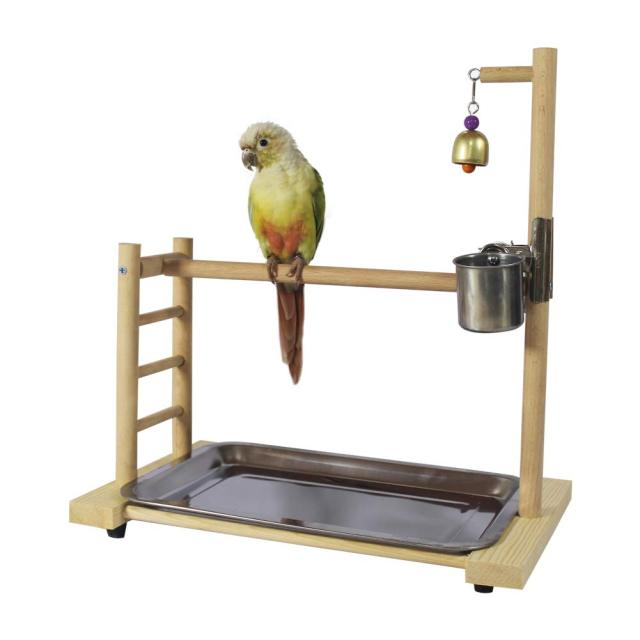 Birdcage Stands Parrot Play Gym Wood Conure Playground Bird Cage Stands Accessories Birdhouse Decor Table Top PlayStand 2