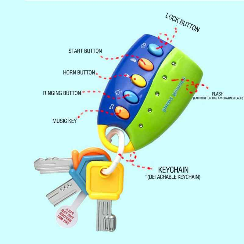 Детское искусственное транспортное средство с дистанционным управлением ключ замок игрушка освещение комбинация музыка ранее детство обучающий игрушки