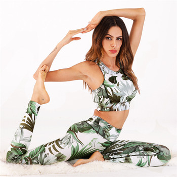 Women's Yoga Set Clothing Leggings+Sports Bra Workout