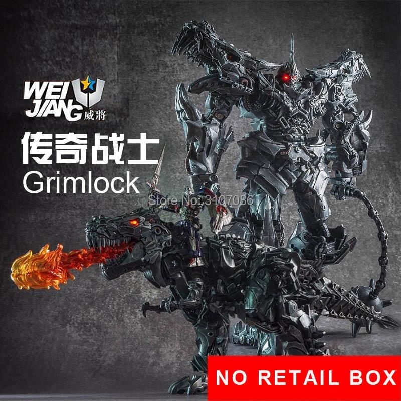 WJ transformacji Grimlock ze stopu Film Film Oversize rozszerzonej SS07 dinozaur lider starożytnych figurka KO zabawka bez pudełka do sprzedaży detalicznej, w Figurki i postaci od Zabawki i hobby na  Grupa 1