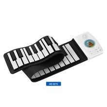 Многофункциональное складное 49 клавиш цифровое пианино портативное рулонное пианино встроенный аккумулятор большой емкости электрическое пианино клавиатура