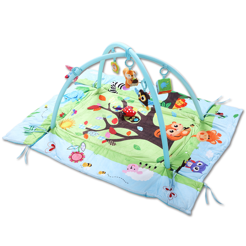 Plush Baby Play Mat Cartoon Soft Newborn Infant Rattles