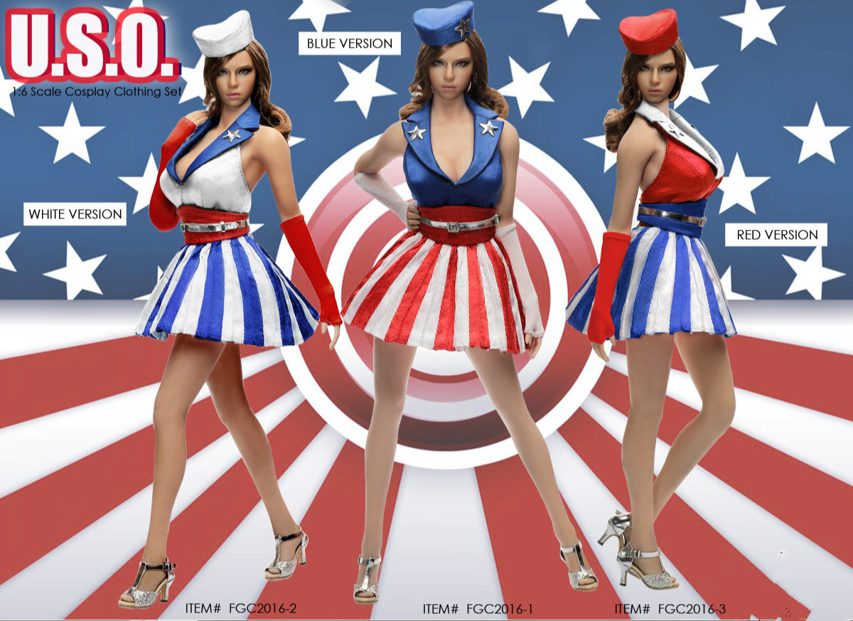 Flirty Girl 1//6 FGC2016-3 Red Dancing Girl Cosplay Clothing set Ver.NEW