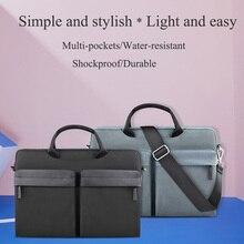 WIWU Multi-pockets Laptop Messenger Bag for MacBook Pro/Air 13 15 Water-resistant Notebook Bag 14 Nylon Laptop Bag Case 15.6