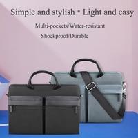WIWU Multi pockets Laptop Messenger Bag for MacBook Pro/Air 13 15 Water resistant Notebook Bag 14 Nylon Laptop Bag Case 15.6
