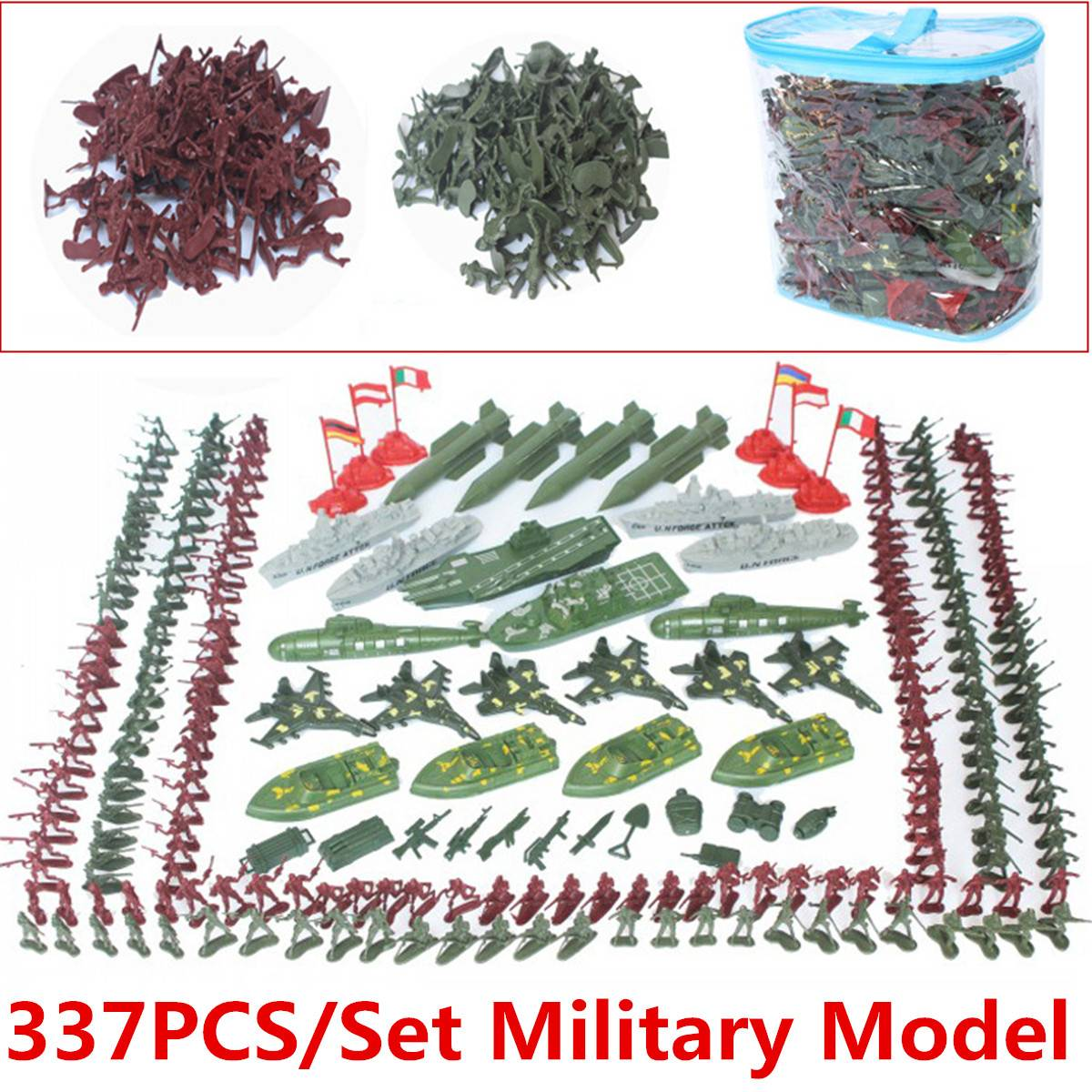 Action & Toy Figures Precise 337pcs/set Plastic Army Men Figures Gift Toy 4cm Soldiers Military Toy Model Action Figure Sandbox Games Toys For Children Boys At All Costs