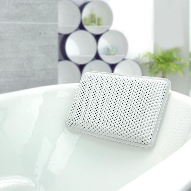 Bath Pillows Cheap Sale 1pc Soft Spa Waterproof Pvc Foam Sponge Massage Pillow Tub Pillow Bathtub Non-slip Suction Cups Anti-bacteria Quick Drying Home & Garden