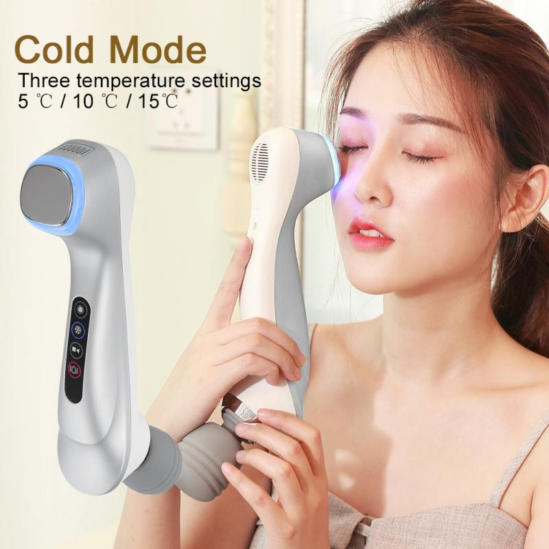 Hot Cold Skin Rejuvenation Photon Beauty Care Device essence importing instrument Negative ion vibrator Facialmassage Cleanser