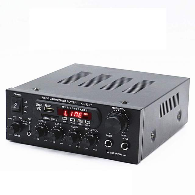 1000W 220V 110V Audio Power Amplifier Home Theater Amplifiers Audio with Remote Control Support FM USB SD Card bluetooth 1