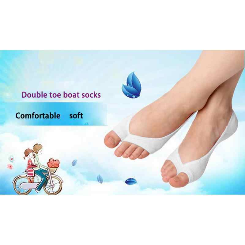 036989b144 2018 New Summer Fish Mouth Boat Socks Toe Open Non Slip Two Fingers  Invisible Toe Yoga