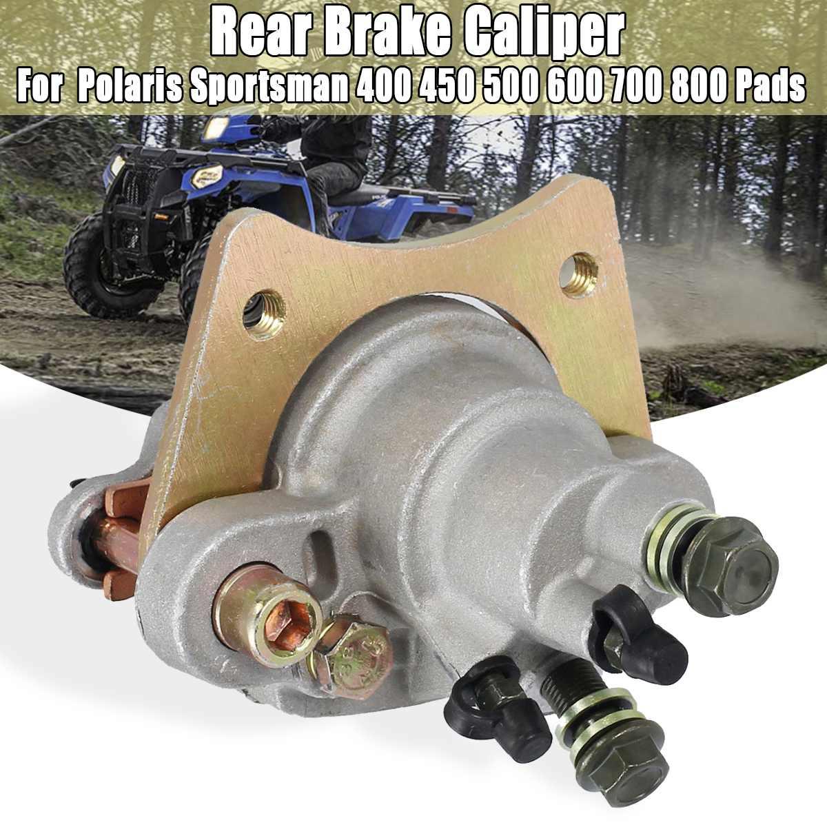 Étrier de frein arrière et plaquettes pour Polaris Sportsman 400 450 500 600 700 800 argent métal Auto pièces de rechange système de frein