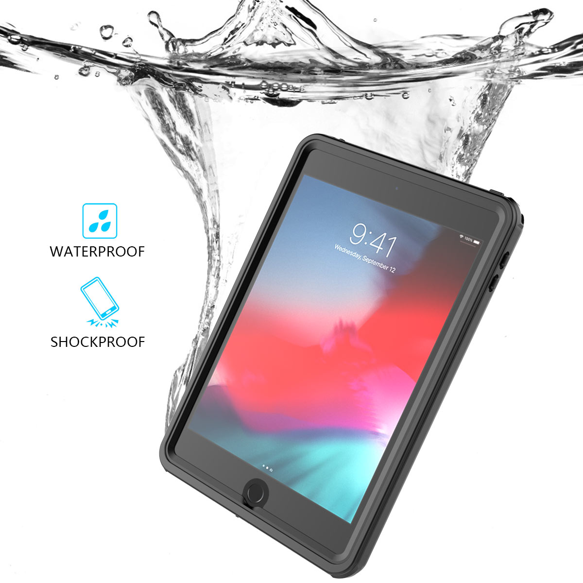 IP68 Waterproof Case For iPad Mini 5 2019 Case Anti-Scratch Full Screen Protector Shockproof Cover For New iPad Mini 5 Case 7.9IP68 Waterproof Case For iPad Mini 5 2019 Case Anti-Scratch Full Screen Protector Shockproof Cover For New iPad Mini 5 Case 7.9