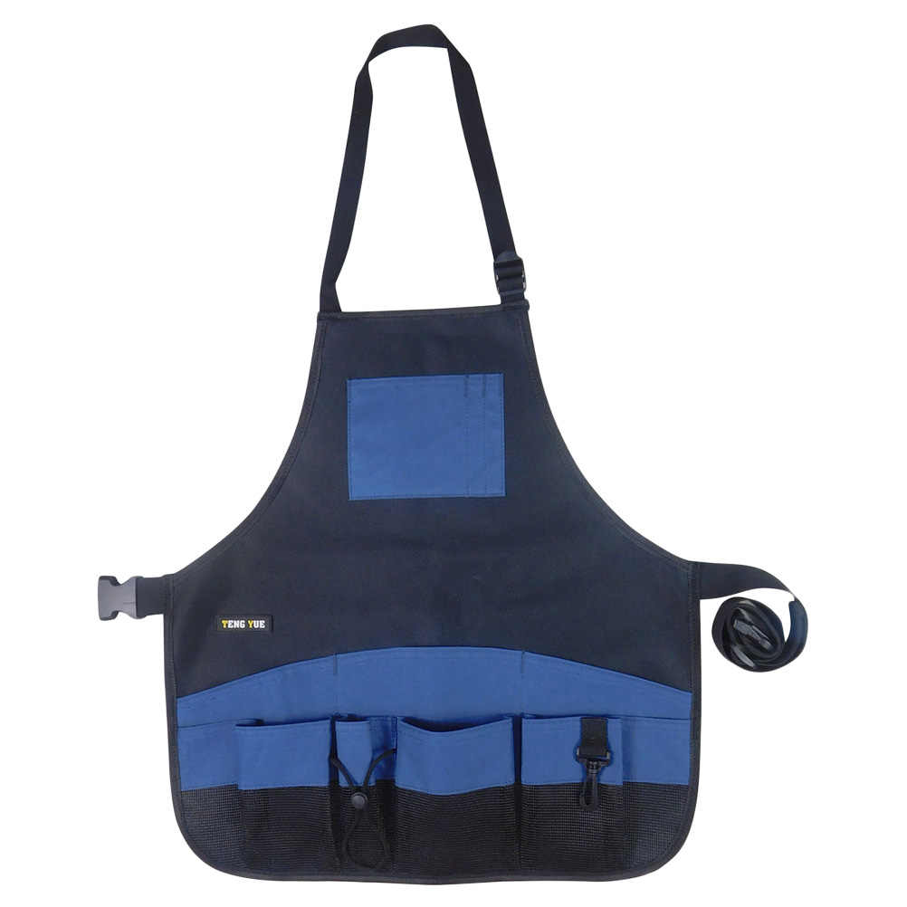 1PC Adjustable Practical Heavy Duty Garden Tool Apron 600D Oxford Fabric Multi-Pockets Apron for Cleaner Garden Workers