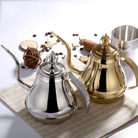 Thick Stainless Steel Teapot With Strainer Hotel Restaurant Hotel For Induction Cooker Long Mouth Large Capacity