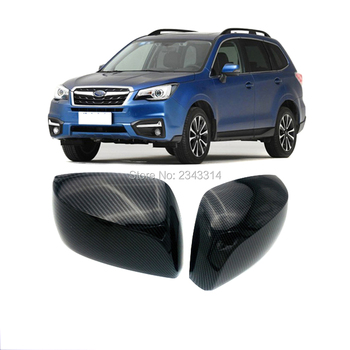 For Subaru Forester 2013-2017 ABS Rear View Rearview Side Door Mirror Scuff Plate Trim Cover Sticker Car Styling Accessories