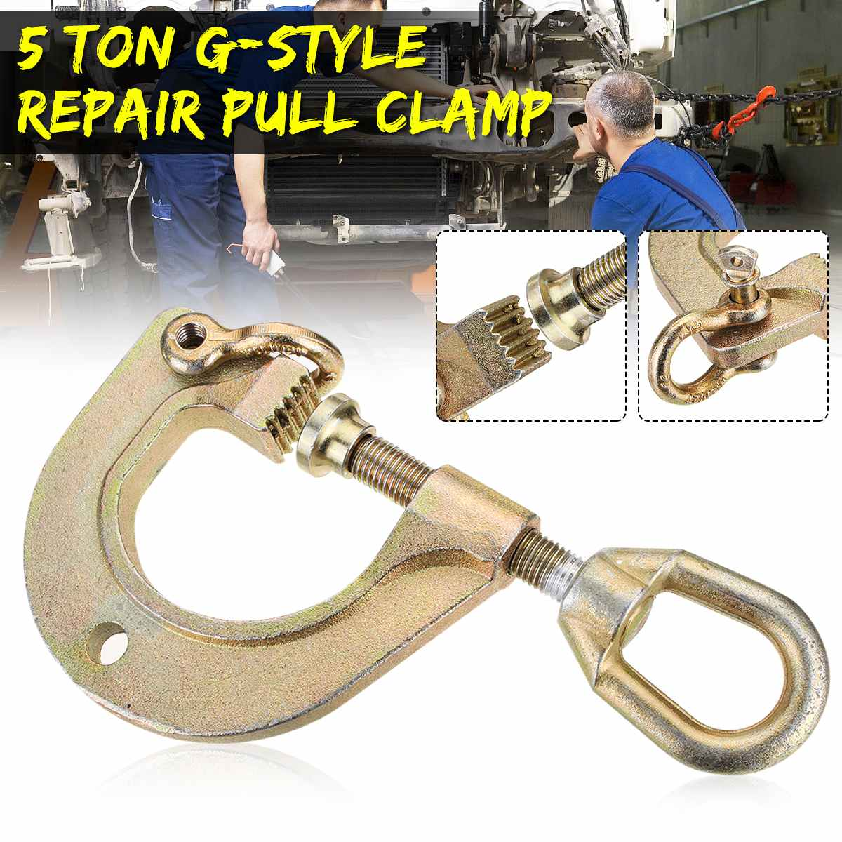 Car G-Style 2-WAY Puller Clamp Frame Back Self-Tightening Auto Body Repair Pull Frame Work