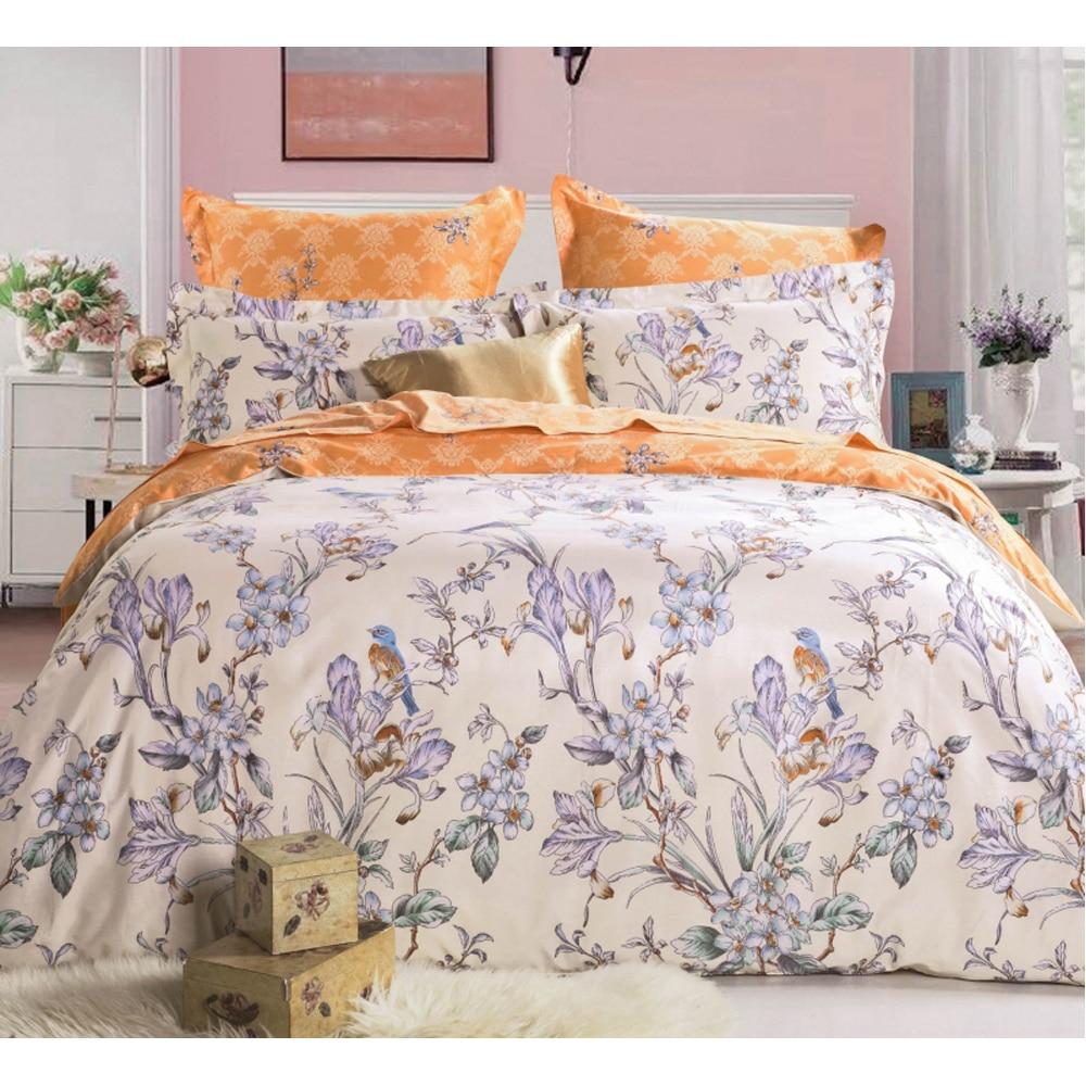 Фото - Bedding Set SAILID B-160 cover set linings duvet cover bed sheet pillowcases TmallTS allover flamingos print sheet set