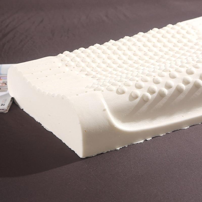 Image 5 - Thailand Import Natural Latex Cervical Vertebrae Health Care Orthopedic Massage Natural Latex Pillow Slow Rebound 30x50/40x60cmBody Pillows   -