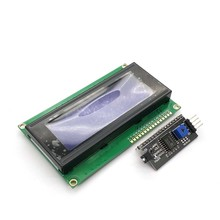 LCD2004 + I2C 2004 20x4 2004A Azul/Verde HD44780 Tela LCD Character/w IIC/I2C módulo Adaptador de Interface Serial