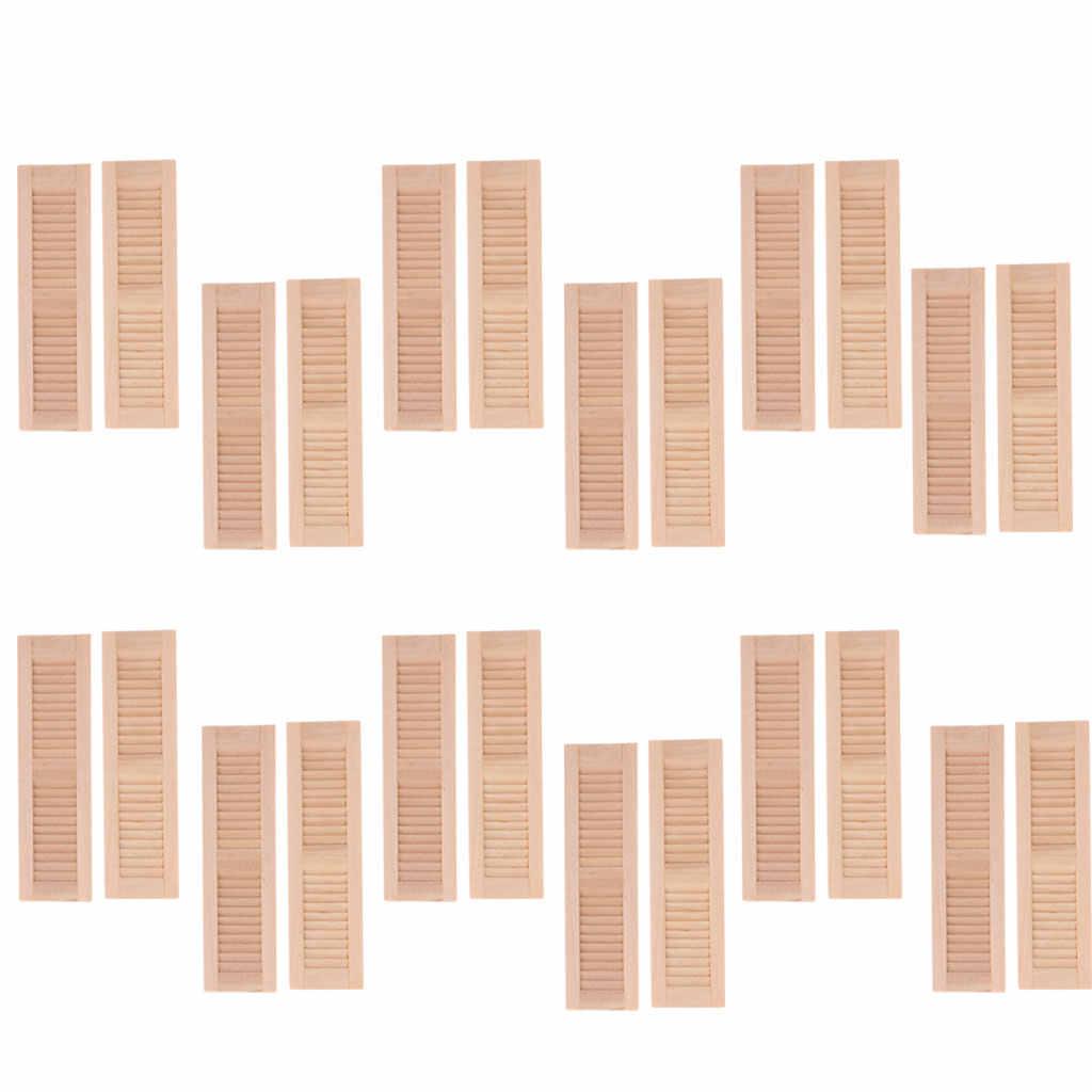 8 Packs 1//12 Scale Miniature Blind Windows Shutters Dolls House Ornament