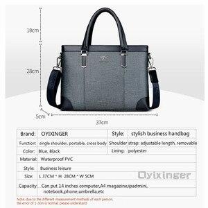 Image 4 - คลาสสิกออกแบบกระเป๋าถือสำหรับ Man Business กระเป๋าเอกสารกระเป๋าคอมพิวเตอร์ชายกระเป๋าสำนักงานผ้ากันน้ำ PVC Travel กระเป๋าทำงานไหล่