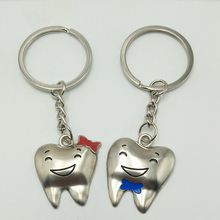 Hot Smiley Face Teeth Couple Small Pendant Keychain Creative Key Chain Promotion Activities Gifts