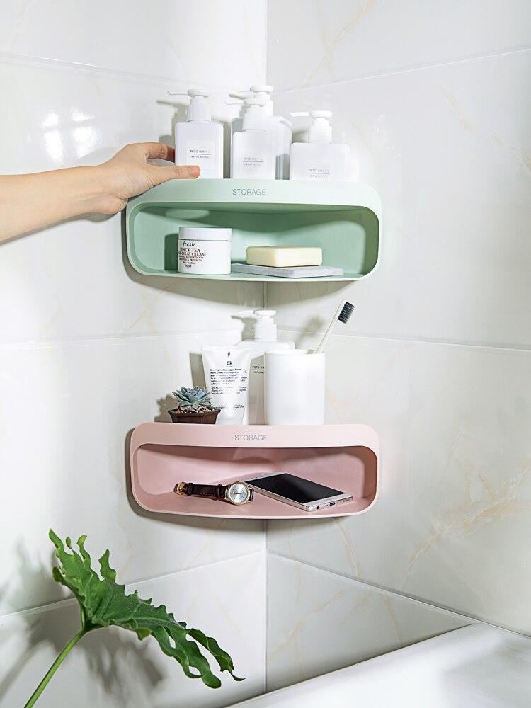 Bathroom wall hanging shelf wash rack toilet corner ...