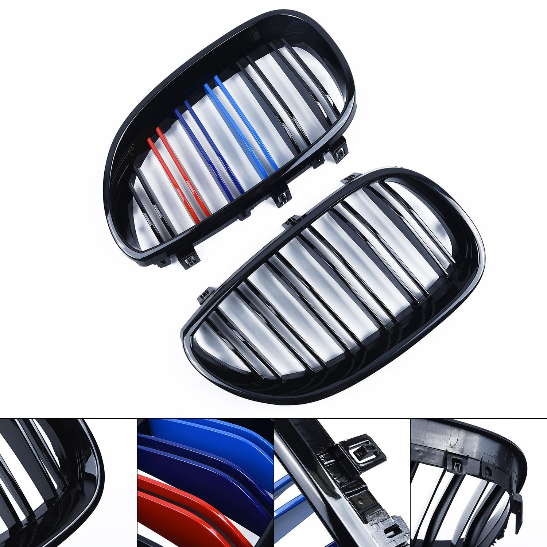 2 * remplacement de Grille de rein avant noir brillant pour BMW série 5 E60/61 2003-2010 accessoires Auto de Grille de rein avant de voiture