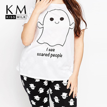 KissMilk large size naughty imp printed street casual short sleeve boyfriend T-shirt