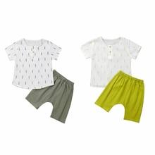 цена на Summer Boys Clothes Children Clothes Boy T-shirt Tops Tee+Shorts Outfits Kids Clothing Sets Children Boys Clothing Cotton Outfit