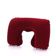 Cojín inflable para cuello funcional almohada de viaje inflable en forma de U cojín inflable de descanso para Almohada de Viaje para el cuello