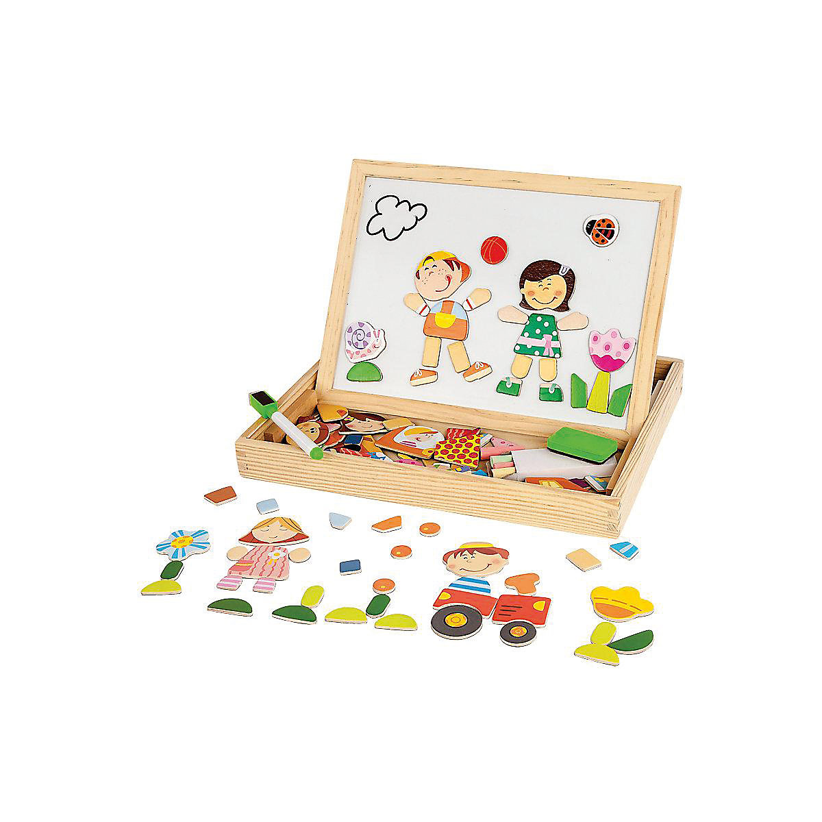 MAPACHA Houten Blokken 4925604 voor jongens en meisjes Educatief speelgoed voor kinderen Baby Kids MTpromo