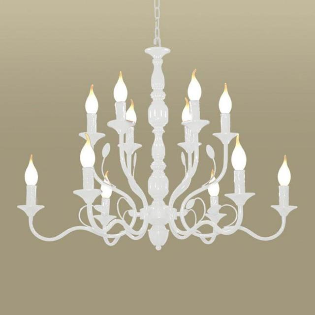 Home Iron White Chandeliers Lighting Led Kitchen Fixtures For S Room Nautical Rural Bedroom Kid E14 Hallway Light