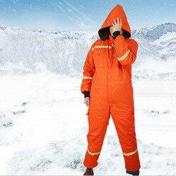 Зимние мужские теплые хлопковые стеганые Рабочие Комбинезоны с капюшоном, Комбинезоны для холодной погоды, комбинезоны со светоотражающим...