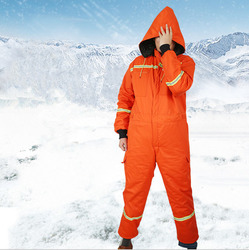 Winter Mannen Warme Katoen Gevoerde Hooded Werk Overalls Koud Weer Bib Overall met reflecterende tapes Thicken Jumpsuits BDK05