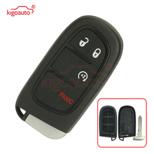 Kigoauto 56046956AC 56046956 GQ4-54T smart key case 3+1 button  2013 2014 2015 2016 for Dodge Ram 1500 2500 3500 Pickup Truck tricolour 2pcs h15 7070 headlight with led bulb low beam for dodge ram 1500 2500 3500 4500 5500 2 2 2013 2014 2015 td004