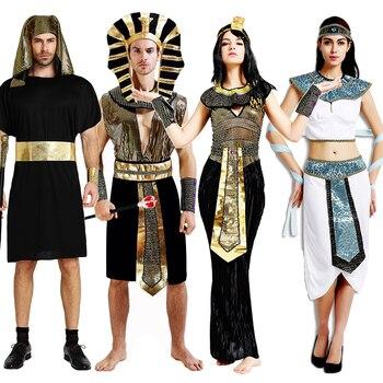 Disfraz de Carnaval del faraón egipcio antiguo de Purim, vestido Sexy de Cleopatra para mujer, ropa de sacerdote Meideval para Halloween