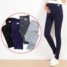 Yuanjiaxin Summer Belly Skinny Maternity Legging in Elastic Cotton Adjustable Waist Pencil Pregnancy Pants Clothes for Pregnant cheap Women Leggings Knitted Polyester Cotton Tights 0069 Solid Natural Color Summer and autumn