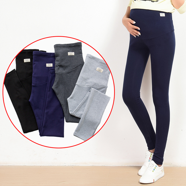 51daa506b Yuanjiaxin verano vientre delgado de leggings de algodón elástico cintura  ajustable lápiz pantalones de embarazo ropa