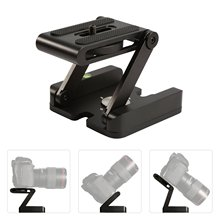 Aluminum Alloy Z Shape Quick Release Plate for Tripods Pan Head Base Adaptor with 1/4 Inch Screw for Canon Nikon DLSR Cameras цены