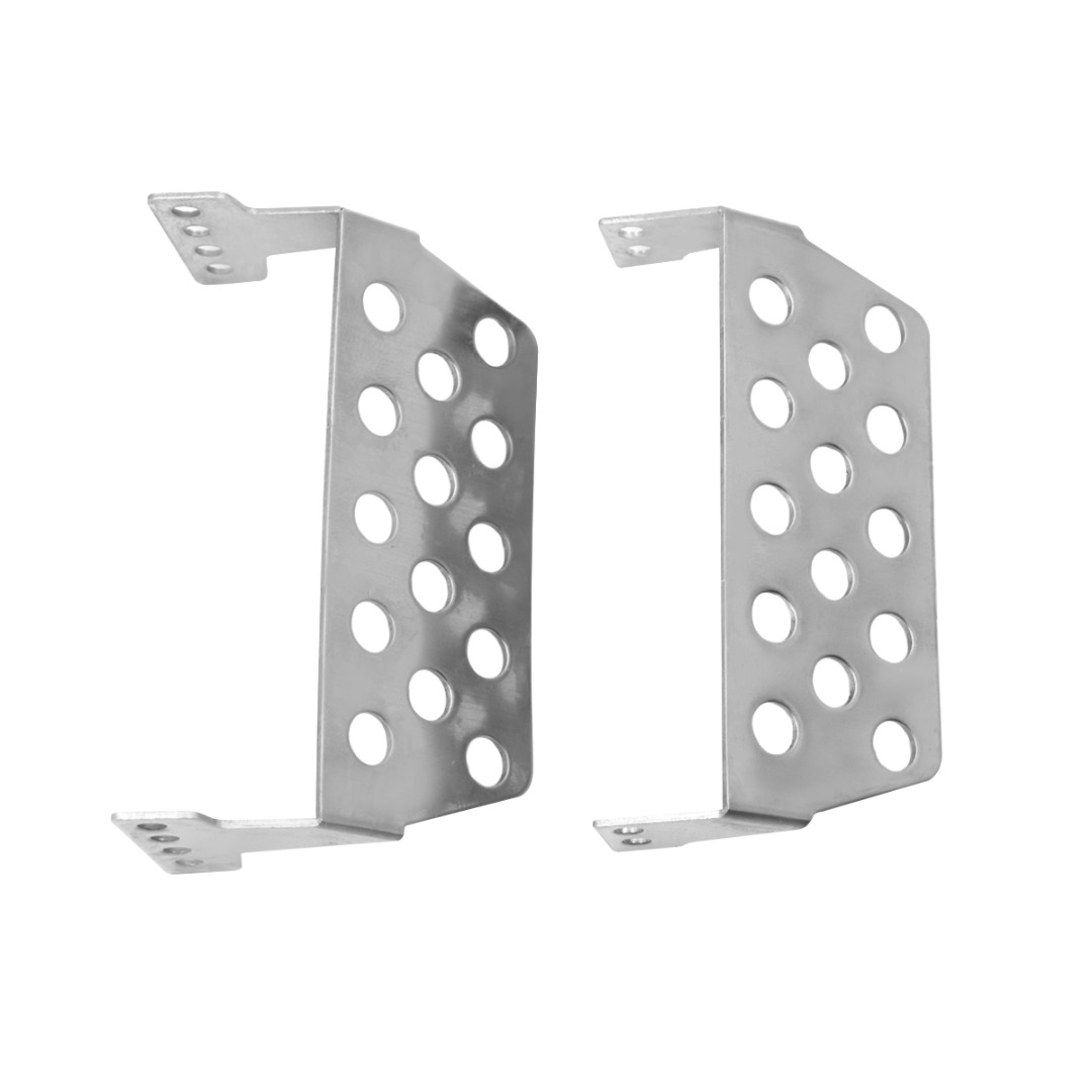 1 10 Scale Protector Pedal Plate Stainless Steel Protector Skid Plate Set For Racing RC Car RC Crawler Accessories in Parts Accessories from Toys Hobbies