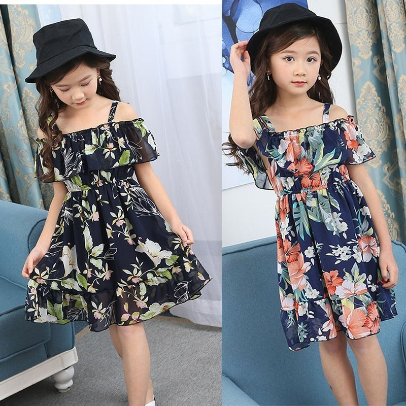 Holiday Kids Dresses For Girls 2019 Clothing Chiffon Summer Printed Floral Dress Girl 10 12 13 4 6 8 Years Baby Kids ClothesHoliday Kids Dresses For Girls 2019 Clothing Chiffon Summer Printed Floral Dress Girl 10 12 13 4 6 8 Years Baby Kids Clothes