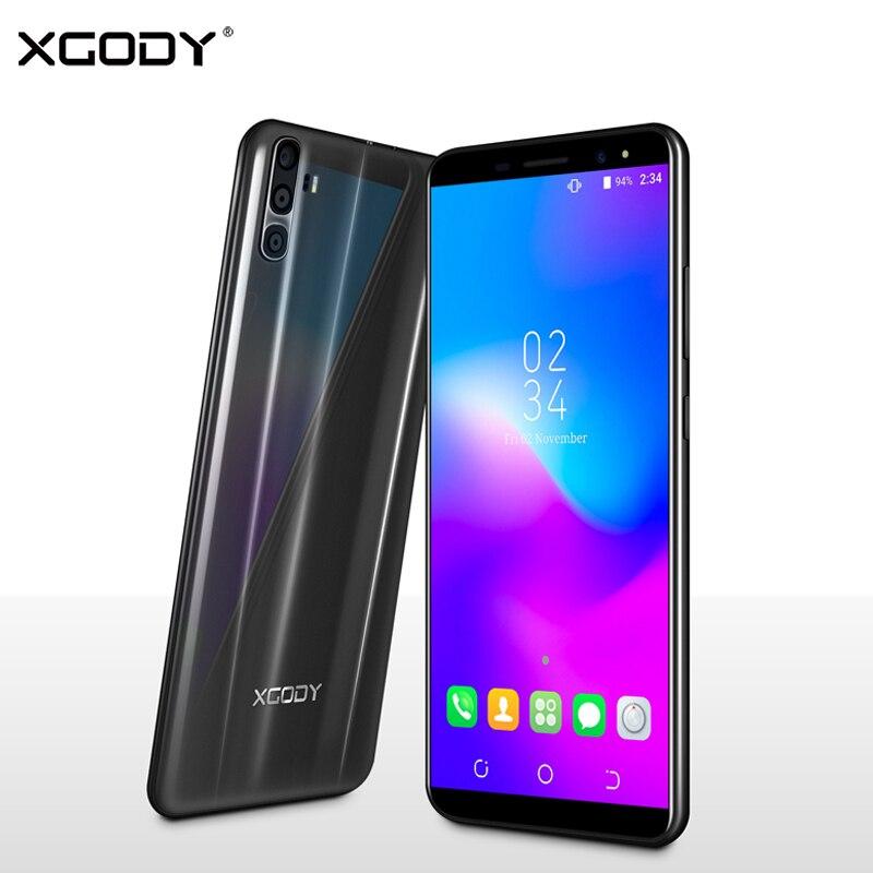 XGODY Y28 3g Double Sim Smartphone 6 pouce 18:9 Intelligent Android 7.0 Celular Quad Core 1 gb + 16 gb 2500 mah 5MP Caméra Mobile Téléphone GPS