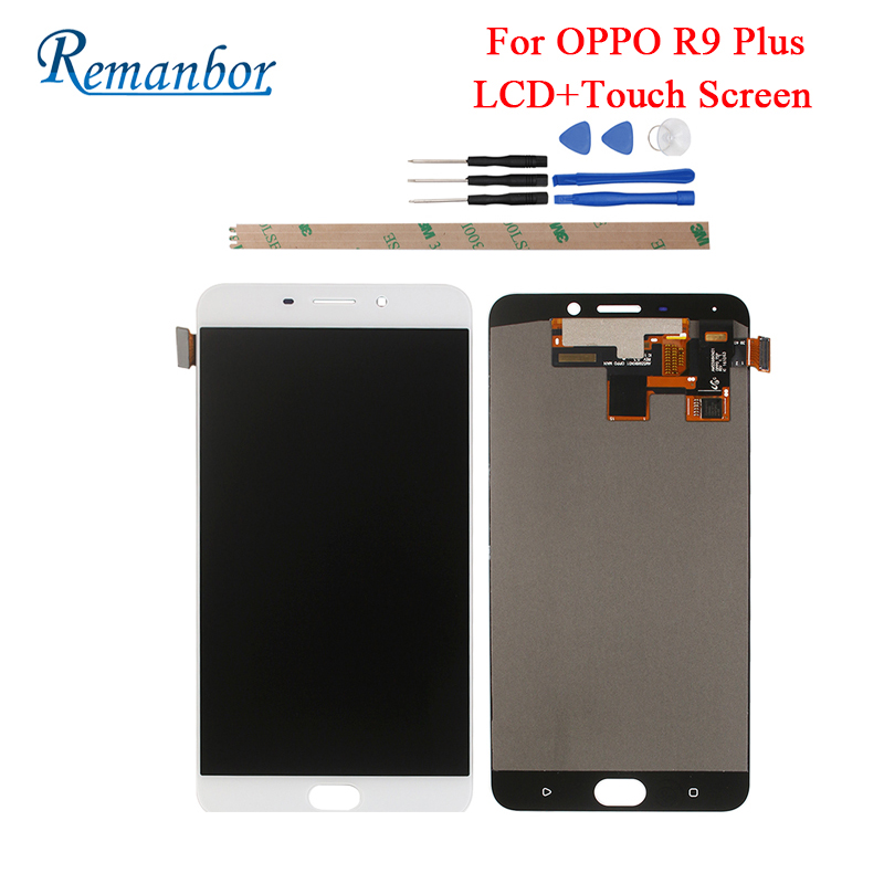 Remanbor For OPPO R9 Plus LCD Display And Touch Screen Perfect Repair Parts For OPPO R9 Plus Digital Accessory 6.0 inch +ToolsRemanbor For OPPO R9 Plus LCD Display And Touch Screen Perfect Repair Parts For OPPO R9 Plus Digital Accessory 6.0 inch +Tools