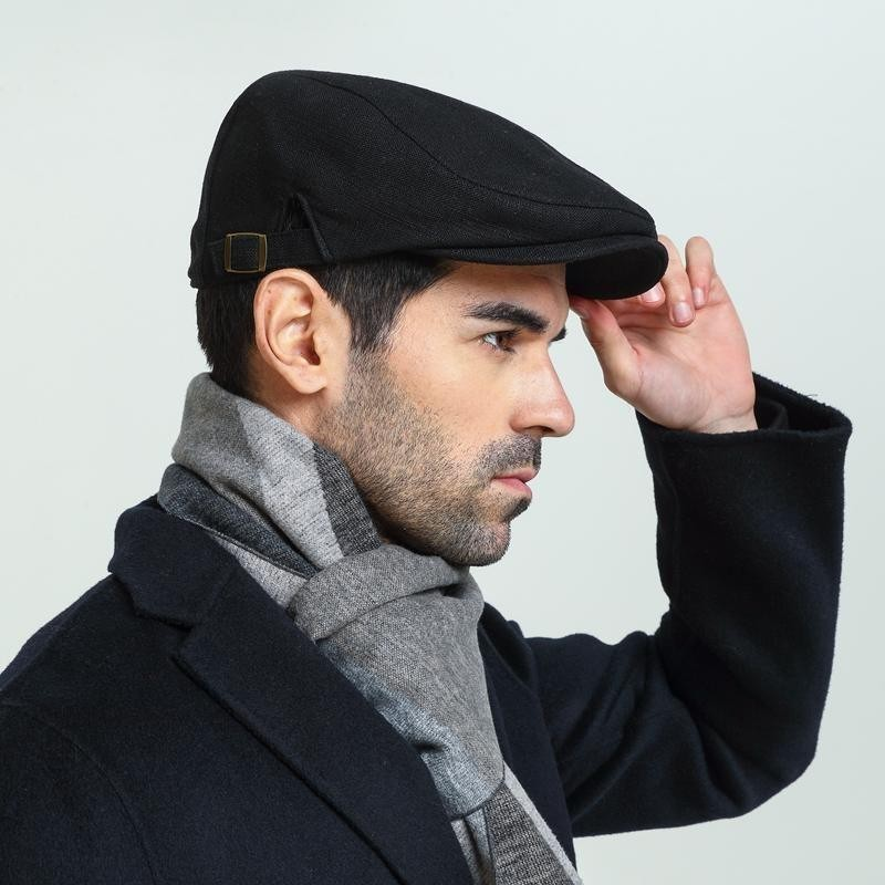 Beret-Caps Newsboy-Cap Big-Head Autumn Male Summer Ivy-Hat Spring Linen Man And 55-59cm