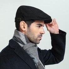 Мужская шапка размера плюс плюща, мужская шапка с большой головой на весну, лето и осень, кепка с газетным принтом высшего класса, льняная берет, кепка s M 55-59 см L 60-62 см