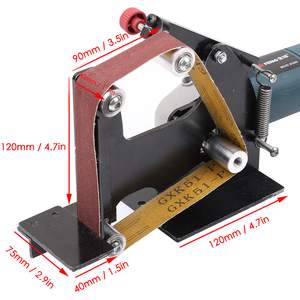 Image 5 - Adaptador de cinto de moedor de ângulo de ferro elétrico, para 100/115 125 acessórios de máquina de lixar, máquina de polimento
